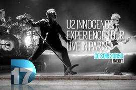 U2  iNNOCENCE + eXPERIENCE Live in Paris - Vendredi 8 janvier à 20h50